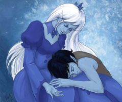 Marshall Lee and Ice Queen by V-violet-vi