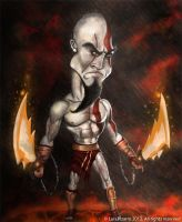 Kratos Caricature by lepeART