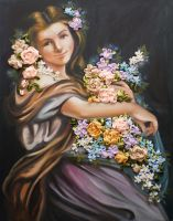 Flower girl embroidered by Lubna-fatiha