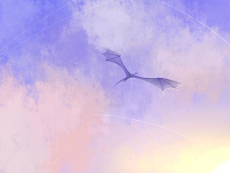 Dragon In The Sky by SapphireDragon245