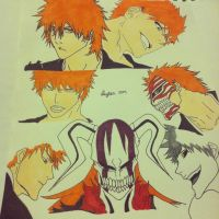 The Many Faces of Kurosaki by Valientona