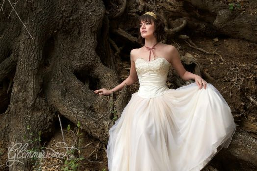 Vanessa Gown by the Roots of a Tree by glimmerwood