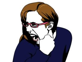 Christina Stephens RAGE face 2 by doubleWOE7