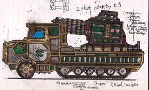 Prince Kasad's Sniper Quad Cannon by Lord-DracoDraconis