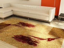 Living Room with nice carpet by surono