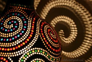 Wall lamp II - Spirals - by night 2 by Calabarte