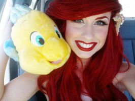 Buddies...Ariel and Flounder by TheRealLittleMermaid