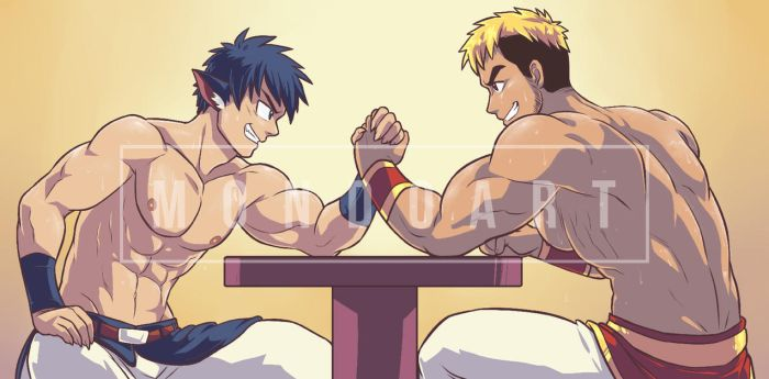 Commission - A worthy opponent by MondoArt