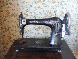 Old Sewing Machine - Close Up by Gracies-Stock