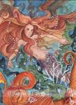 ACEO Copper Mermaid by JoannaBromley