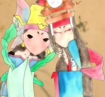 BFFs - Queen Otohime and Queen Himiko by DrisanaRM