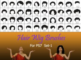 Hair_Wigs_Brushes_SET_1 by intenseone345