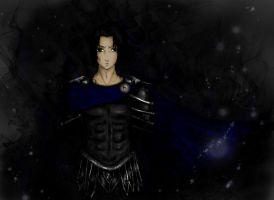 Sasuke/ Hades melting out of the shadows by Photosmash-up