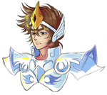 seiya in his GODDO CLOSU by Bichu