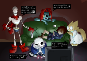 Playing undertale by pika-chan2000