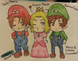 Mario And Hetalia Crossover! by RANDOM-drawer357