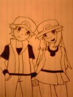 Red and Blue Pokemon Trainer by BlackShot96XD