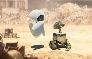wallpaper wall-e eve 2 3D stud by youcan619
