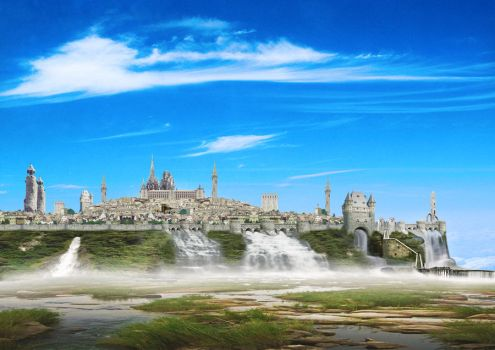 Devon the Waterfall City by orcbruto