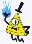 ACEO - Bill Cipher by Goldy--Gry