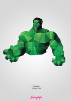 The Hulk - Polygon Pixel by lickmystyle