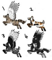 natural coloured adopts -- CLOSED -- by Painted-Shadow