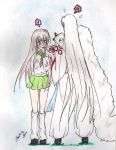 kagome and sesshomaru by labrujabeatrice