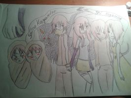 my drawing clan kagamine by shinokagamine
