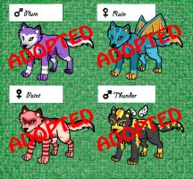 Wolf Adoptables 3 CLOSED by 32d