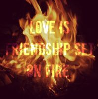 Love is friendship on fire. by PurpeePured1997xo