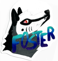 Foster - Con Badge by NeonWolfi