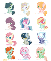 Mlp Ship Adopts 4 by CaptainPasta
