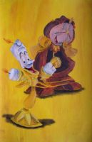 Lumiere & Cogsworth by billywallwork525