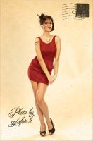 Pin-up postcard by gytis