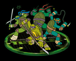 TMNT - Half-shell Heores by ConnerCoon