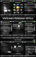 Walkman Splatter White - K800 by moron12