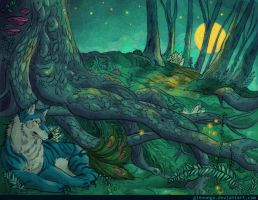 Forest of the Golden Moon by Ginnunga