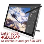 $50 OFF GT-220 w/ a screen protector as a GIFT! by huion