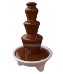 Chocolate fountain by Bromberry