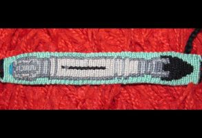 Ten's sonic Screwdriver- friendship bracelet by Aldenan