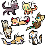 Chibi cats adoptables 10 points 2/7 OPEN by CankeShy