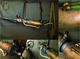 Steampunk Chemical Blaster Weapon by Nymla