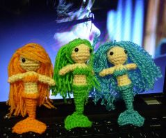 Amigurumi Mermaids - Sold by KitWolfren