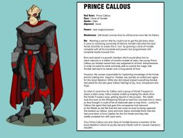 Prince Callous by shubcthulhu