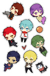 kurobasu stickers by battlerobots