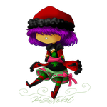 Christmas Chibi CMSN-Heather by HezuNeutral