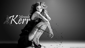 Miranda Kerr wall by Xaziss