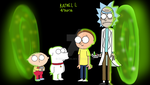 Brian and Stewie Meets Rick and Morty by spongekid1999