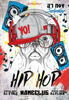 Hip-hop-flyer by Styleflyers