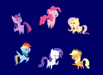 Mini ponies! by AleximusPrime